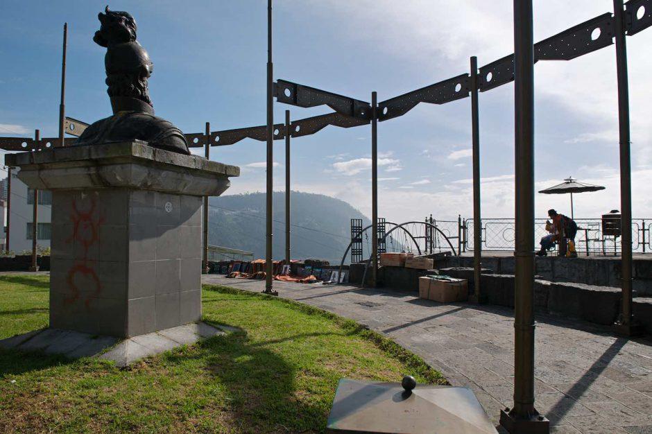 Kleurfoto van een vue panoramique in Quito