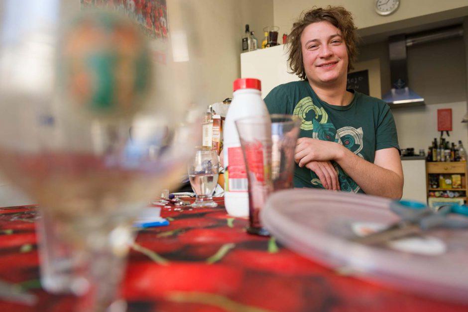 Bernd De Cree, student aan de VUB